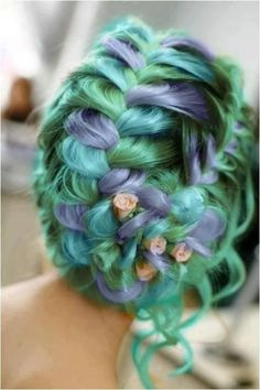 Coloured hair, in an awesome up do