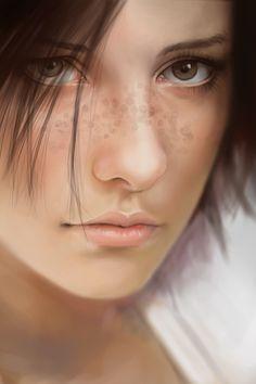 Portraits - Digital paintings by Karl Liversidge, via Behance