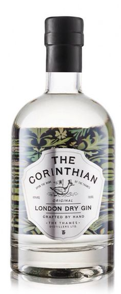 The Corinthian ginfusion Gin Bottles, Vodka Bottle, Bottle Labels, Craft Gin, Gin Bar, Tonic Water, Gin And Tonic, Bottle Design, Wine Design