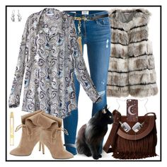 """""""Autumn Begins"""" by winscotthk ❤ liked on Polyvore featuring Calypso St. Barth, Frame Denim, Frye, Yves Saint Laurent, 424 Fifth, Marc Jacobs and Bling Jewelry"""