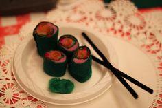 Needle felted sushi!