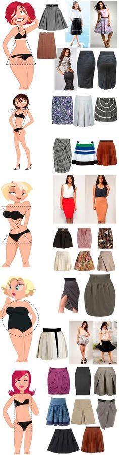 A saia certa para seu corpo