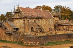 Visit, maybe even be a part of building Castle Guedelon.