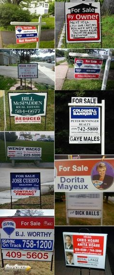 funny real estate signs | best home features | Renovus.re is 1 solution for agents at 1 price |