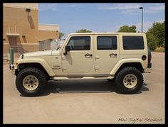 Sahara Tan Jeep Wrangler Unlimited ...this is my perfect vehicle.