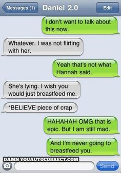 Breastfeed (from 'Damn You Autocorrect' Exposes 10 Funniest Love Fail) | From: Damn You Autocorrect via Mashable