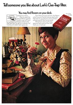 Takes Your Breath Away 1970 Advertisement for Lark Cigarettes