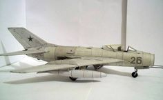 This aircraft paper model is a Mikoyan-Gurevich MiG-19 (NATO reporting name: Farmer), a Soviet second-generation, single-seat, twin jet-engined fighter aircraft, the papercraft is created by HISshadow, and the scale is in 1:33. There is another Mikoyan-Gurevich MiG-19 Paper Model on the