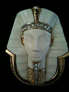Very Rare Marcel Boucher Egyptian Revival King by Vintageimagine, $475.00