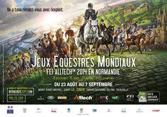Poster officiel des Jeux Equestres Mondiaux FEI Alltech 2014 en Normandie