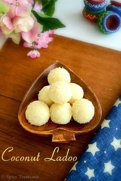 Coconut Ladoo Recipe (Coconut, condensed milk, cardamom.. too easy not to try)
