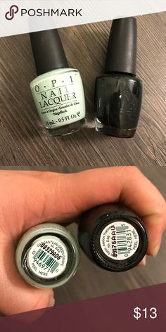 OPI Green Duo - color of the year! Green is the color of the year. Two green hue OPI polish. Like new only used once. Colors: Gargantuan Green Grape and Here today Aragon Tomorrow. O.P.I Accessories