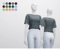 Linen Blouse by Rusty Nail for The Sims 4