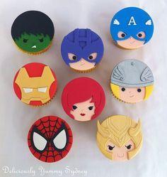 Cute Avengers cupcakes                                                                                                                                                                                 Más