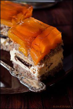 """Ciasto """"kora orzechowa"""" - przepis - I Love Bake Cheesecake, Food And Drink, Kuchen, Cheesecakes, Cherry Cheesecake Shooters"""