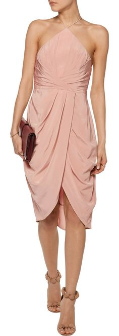 On SALE at 50% OFF! Wrap-effect Draped Silk Crepe De Chine Halterneck Dress by Zimmermann. Australian sisters Nicky and Simone Zimmermann launched their ready-to-wear and swimwear line in 1991, with a focus o...