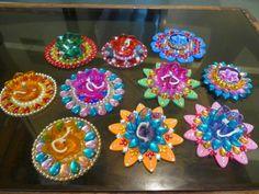 Handmade oil lamps #diwali #diyas