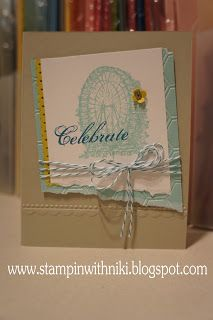 by Niki Toll, Stampin With Niki: Celebrate