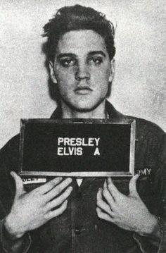 Elvis Presley mug shot