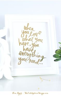 DIY Gold Foil Art | @kimbyers