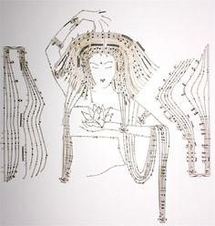 Princeton-based artist Erika Iris who deftly reconfigures sheet music to create portraits and other illustrations.
