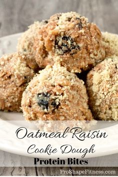 These protein bites are going to blow you away! They taste exactly like oatmeal raisin cookie dough, yet somehow manage to be incredibly healthy (though nobody would ever guess it)! Click here for recipe!