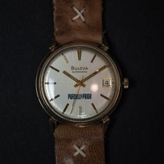 Throne Watch Company is a Brooklyn-based brand specializing in refurbished Vintage watches. This Vintage Bulova Automatic Watch is from the 1960s. Featuring a 10k Gold Plated Stainless Steel case and