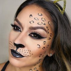 ‪#‎HalloweenMakeupIdeas‬: Go wild and unleash your inner vixen with Preen.Me MUA Lishalovesmakeup's leopard video tutorial.