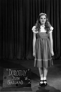 A seventeen-year-old, Judy Garland poses for a test shot for her role as Dorothy in the film, The Wizard of Oz, 1939.