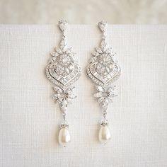 Crystal-Bridal Ohrringe Anweisung Hochzeit von GlamorousBijoux