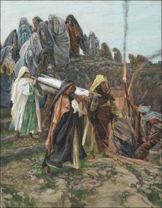 Jesus Is Carried to the Tomb Life Of Jesus Christ, Jesus Lives, Bible Pictures, Jesus Pictures, Jesus Tomb, Bible Illustrations, Brooklyn, Biblical Art, Lion Of Judah