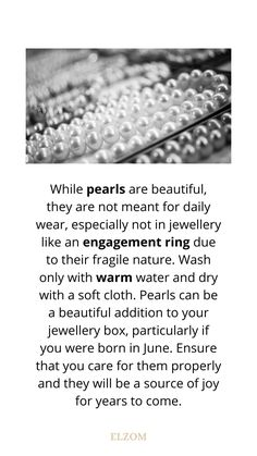 Quick info about the pearls