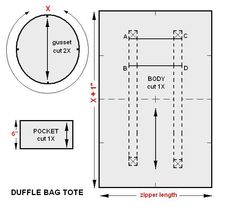 A duffle bag tote is an ideal type of luggage that no traveler should be without. The duffel bag is one of the most versatile and functional forms of luggage. It can be used as a carry-on for plane… Sewing Hacks, Sewing Tutorials, Sewing Patterns, Bag Tutorials, Purse Patterns, Diy Duffle Bag, Tote Bag, Duffel Bags, Diy Leather Duffle Bag