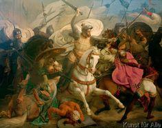 Karl Friedrich Lessing - Schlacht bei Ikonium