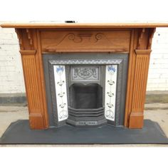 oak fireplace - Google Search