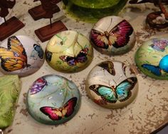 these butterfly paperweights are beautiful...