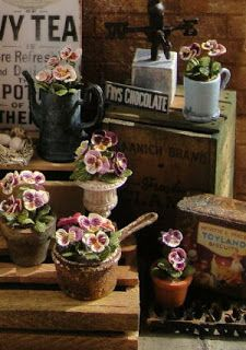 Pansies from My Dollhouse Days