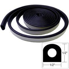 "TACO Weather Seal - 10'L x ½""W x ½""H - Black - https://www.boatpartsforless.com/shop/taco-weather-seal-10l-x-w-x-h-black/"