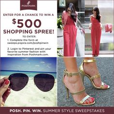 Enter to win a $500 Poshmark Shopping Spree! Click through for entry details on our blog. You must fill out the official entry form to be entered.