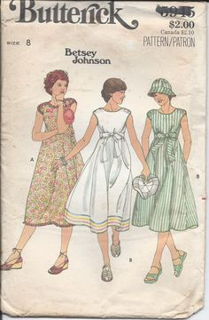 Butterick Sewing Patterns - Asstd Vintage SIze Miss 12 Hat Patterns To Sew, Vintage Dress Patterns, Seventies Fashion, Retro Fashion, Vintage Fashion, Wrap Clothing, Clothing Ideas, Butterick Sewing Patterns, Patron Vintage