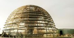 Reichstag Dome designed by Norman Foster. Berlin.