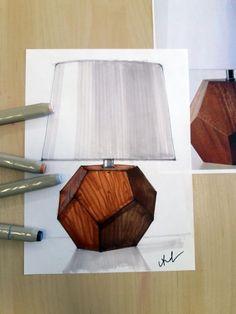 Sketch by Varvara Akhremko # - Innenarchitektur Skizzen, Interior Architecture Drawing, Interior Design Renderings, Interior Sketch, Architecture Design, Classical Architecture, Bedroom Furniture Design, Home Decor Furniture, Furniture Makeover, Bedroom Ideas
