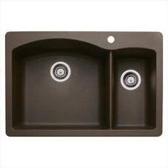 "Franke 33"" X 22"" Dual Mount Granite Double Bowl Sink At Menards Classy Menards Kitchen Sinks Review"