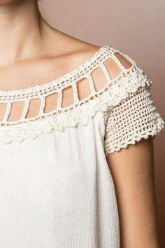 María Cielo: Combinación de crochet y tela