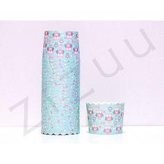 Confezione da 25 pirottini di carta tondi a fantasia di piccoli gufi LOVE con diametro base di 6 cm e top di 7 cm