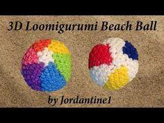 New Loomigurumi / Amigurumi Beach Ball - Rubber Band Crochet - Rainbow Loom - Hook Only - YouTube