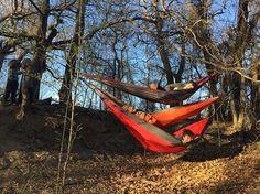 Triple decker hammocks! 🌿🌿🌿🌿🌿🌿🌿🌿🌿🌿🌿🌿🌿🌿🌿🌿🌿🌿🌿🌿🌿🌿🌿🌿 #hammock #tripledecker #outdoors #photography #woods #trees #friends #fun #happy #leaves #tree #hammocklife #nofilter #nofilterneeded #sunset #evening
