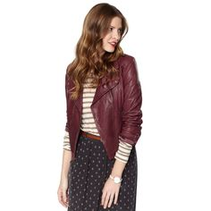 Fossil Lizzie Jacket. This cordovan color makes me desire this even more. I tried it on, it was very difficult to leave the store without purchasing it.