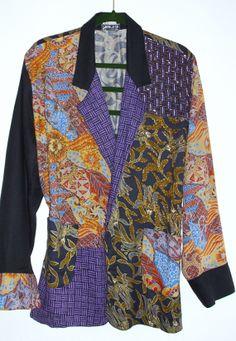 Vintage Bohemian Beaded Batik Patchwork Jacket Gypsy by KheGreen, $95.00