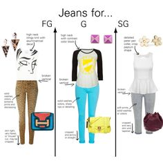 """Jeans for Gamine Types"" by thewildpapillon on Polyvore"